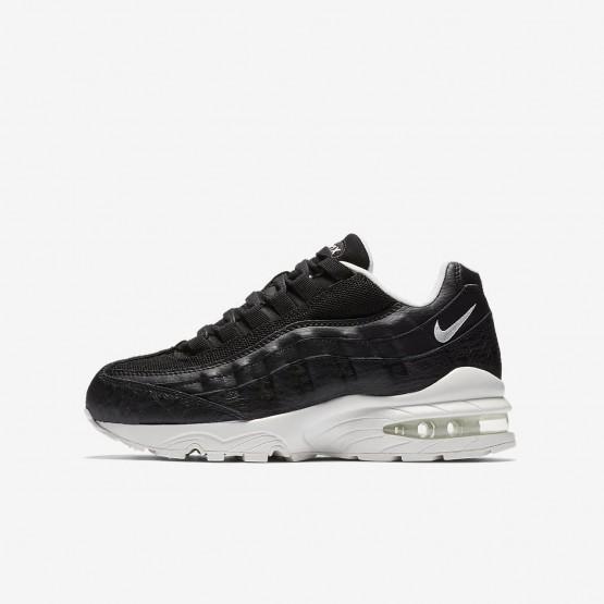 Nike Air Max 95 SE Lifestyle Shoes For Boys Black/Summit White 826MNLSB