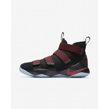Nike LeBron Soldier XI Basketball Shoes For Women Black/Red Stardust/Gym Red 204HQTIS