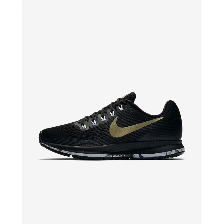 312d8fd6e664a Nike Air Zoom Pegasus 34 Running Shoes For Women  Black Anthracite White Metallic