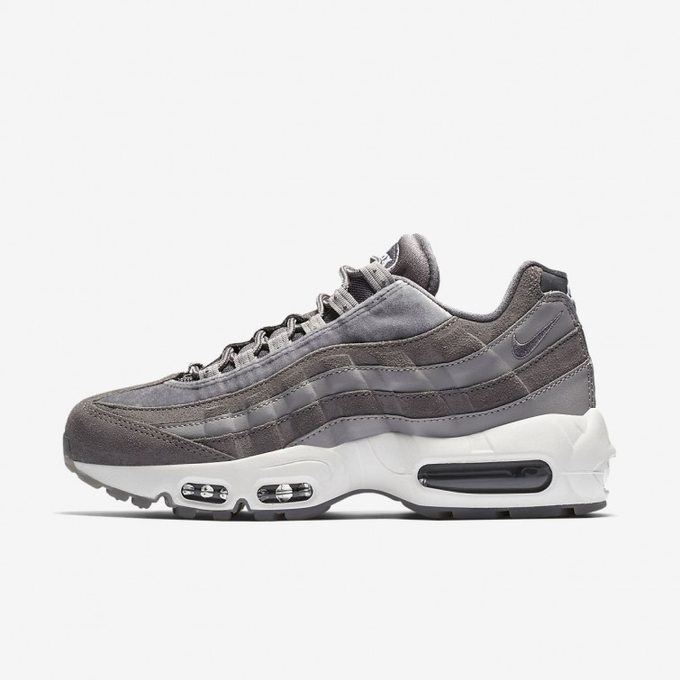 a51813d8d4fc Nike Air Max 95 LX Lifestyle Shoes For Women Gunsmoke Atmosphere Grey Summit  White