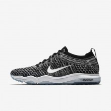 Nike Air Zoom Fearless Flyknit Lux Training Shoes For Women Black/Cool Grey/White 460YOPNC