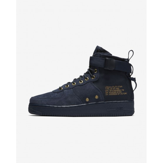 Nike SF Air Force 1 Mid Lifestyle Shoes For Men Obsidian/Black 216DMWXT