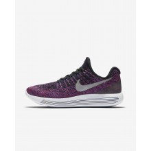 Nike LunarEpic Low Flyknit 2 Running Shoes For Women Black/Hyper Punch/Persian Violet/Metallic Silver 900ERHGX
