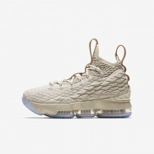 Nike LeBron 15 Basketball Shoes For Boys String/Vachetta Tan/Sail 797WSXTF