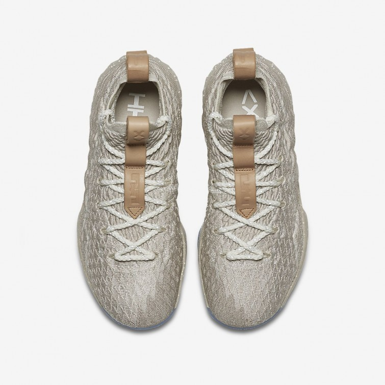 f57a298e9aa7 ... Nike LeBron 15 Basketball Shoes For Boys String Vachetta Tan Sail  797WSXTF ...