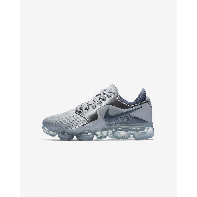 new concept dc576 7c801 Nike Air VaporMax Running Shoes For Boys Wolf Grey Metallic  Silver Anthracite Light