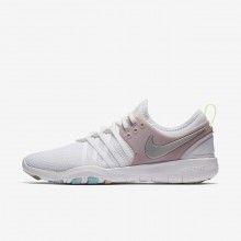 Nike Free TR7 Training Shoes For Women White/Elemental Rose/Volt Glow/Metallic Silver 223SNKMA