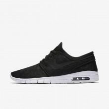 Nike SB Stefan Janoski Max Skateboarding Shoes For Men Black/White 593OTWEH