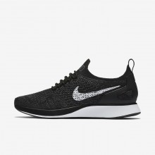 Nike Air Zoom Mariah Flyknit Racer Lifestyle Shoes For Women Black/Dark Grey/White 532DYPFX