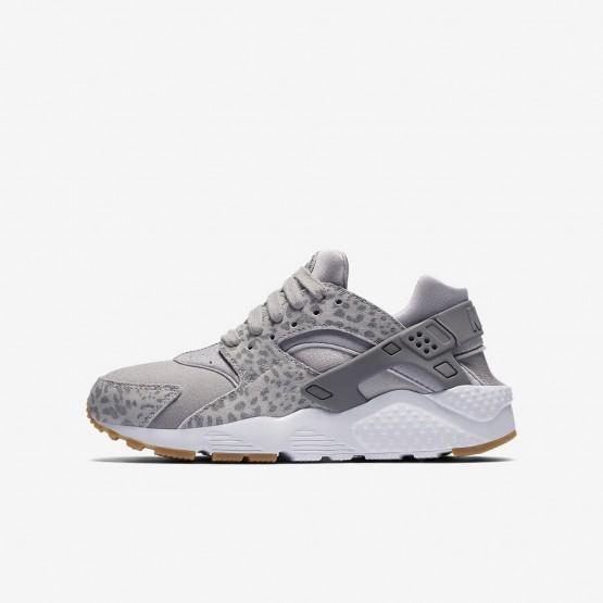 Nike Huarache SE Lifestyle Shoes For Girls Atmosphere Grey/Gum Light Brown/White/Gunsmoke 246MVPKC