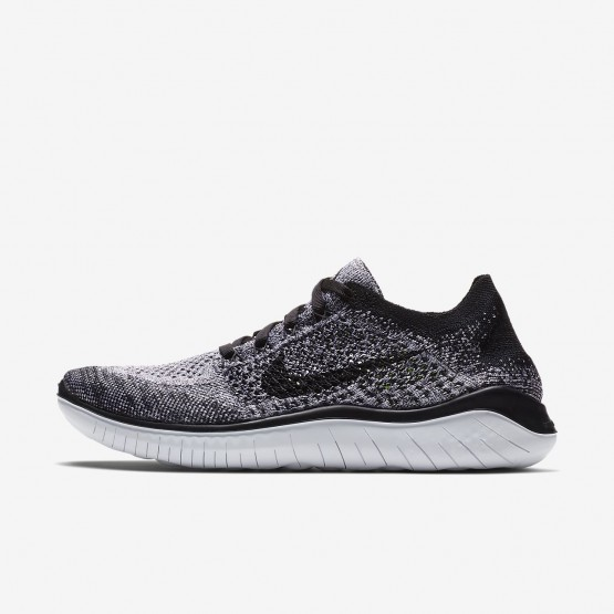 Zapatillas Running Nike Free RN Flyknit 2018 Mujer Blancas/Negras 824BRPJK