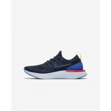 Nike Epic React Flyknit Running Shoes For Boys College Navy/Racer Blue/Pink Blast 121OHCVN