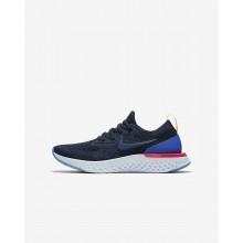 Nike Epic React Flyknit Laufschuhe Jungen Navy/Blau/Rosa 195SWVLF