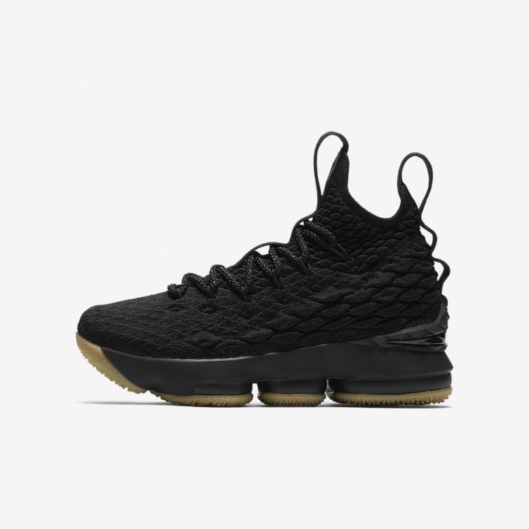 low priced f523a 14ba0 Neue Nike LeBron 15 Schuhe, Nike Basketballschuhe Jungen Schwarz/Rot ...