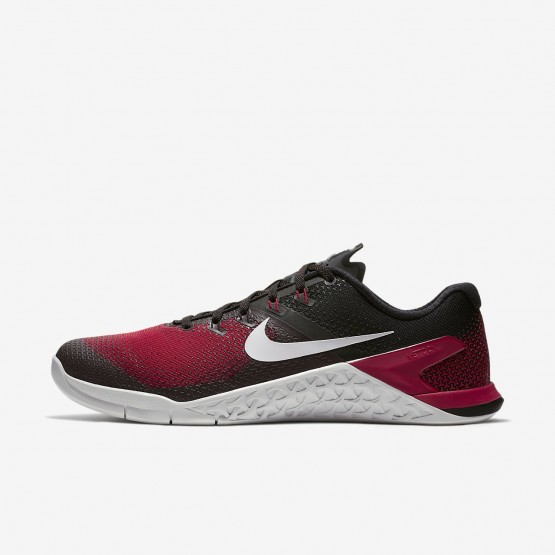 Nike Metcon 4 Training Shoes For Men Black/Hyper Crimson/Habanero Red/Vast Grey 886ZQVPW