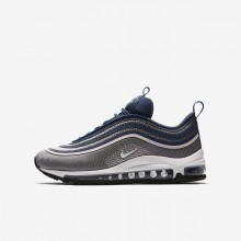 Nike Air Max 97 Ultra 17 Lifestyle Shoes For Girls Light Carbon/Barely Rose/Navy/White 787HLWXD