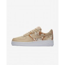 Nike Air Force 1 07 Low Camo Lifestyle Shoes For Men Bio Beige/Orange Quartz/Terra Orange 414ZBQUG