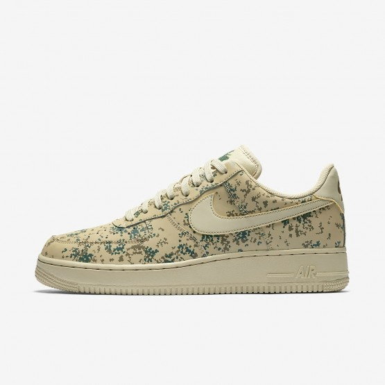 Nike Air Force 1 07 Low Camo Lifestyle Shoes For Men Team Gold/Golden Beige/Gorge Green 764GFNCP