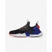 Nike Air Huarache Drift Premium Lifestyle Shoes For Men Black/Rush Orange/Lagoon Pulse/Rush Violet 890ZYADT