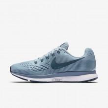 Sapatilhas Running Nike Air Zoom Pegasus 34 Mulher Pretas/Azuis 349VPSUY