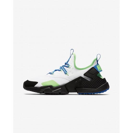 Nike Air Huarache Drift Lifestyle Shoes For Men White/Black/Blue Nebula 280HISKF