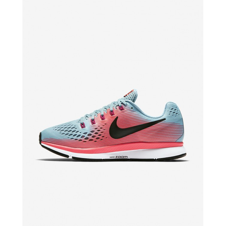 b6d0f9f52972 Nike Air Zoom Pegasus 34 Running Shoes For Women Racer Pink Mica Blue Sport