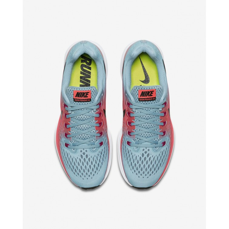 f725dd9a4928 ... Nike Air Zoom Pegasus 34 Running Shoes For Women Racer Pink Mica  Blue Sport ...