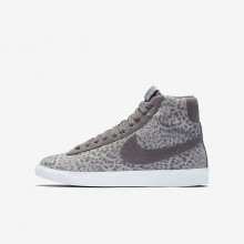 Nike Blazer Mid SE Lifestyle Shoes For Girls Atmosphere Grey/Gum Light Brown/White/Gunsmoke 174SZBKO