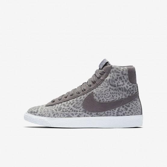 Sapatilhas Casual Nike Blazer Mid SE Menina Cinzentas/Luz Marrom/Branco 519FZGKI