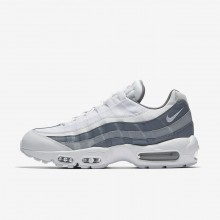 Nike Air Max 95 Essential Lifestyle Shoes For Men White/Cool Grey/Wolf Grey 694UOISE