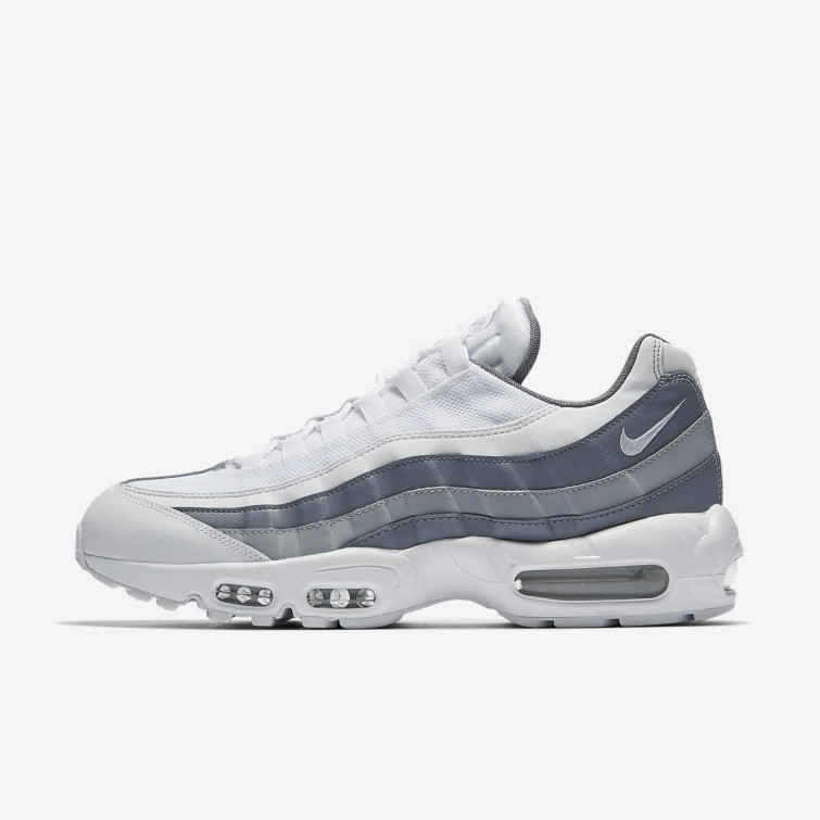 new product 2440a b4c98 Nike Air Max 95 Essential Lifestyle Shoes For Men White Cool Grey Wolf Grey
