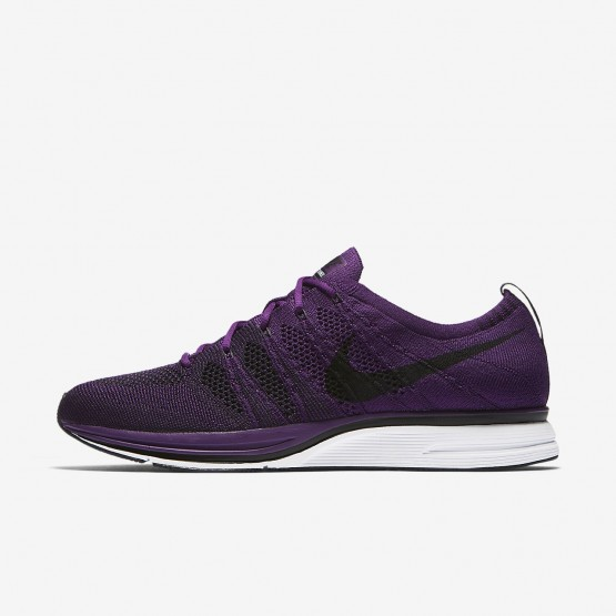 Nike Flyknit Trainer Lifestyle Shoes For Men Night Purple/White/Black 709WLAPR