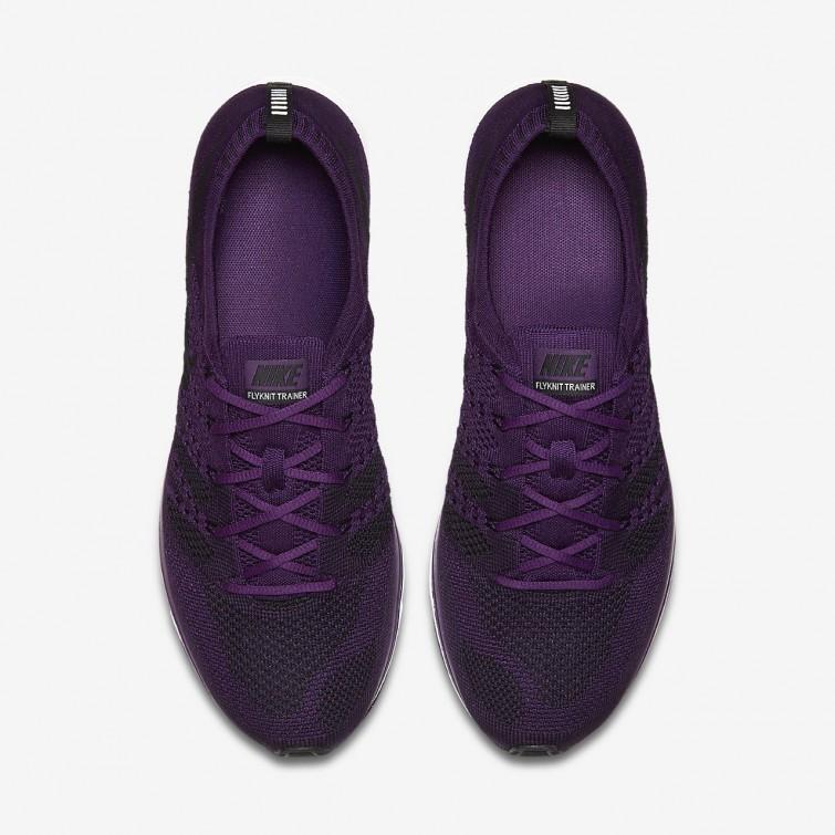 b5e66f922e88b ... Nike Flyknit Trainer Lifestyle Shoes For Men Night Purple White Black  709WLAPR ...