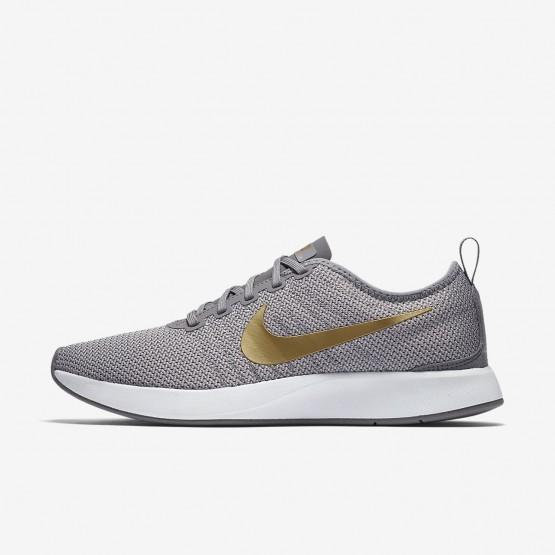 Sapatilhas Casual Nike Dualtone Racer SE Mulher Cinzentas/Branco/Metal Douradas 614UZXPF