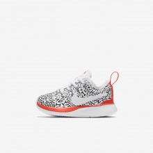 Nike Dualtone Racer QS Lifestyle Shoes For Boys White/Black/Bright Crimson 909DCOHK