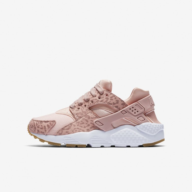 f6c81c002e41a Nike Huarache SE Lifestyle Shoes For Girls Coral Stardust Gum Light  Brown White