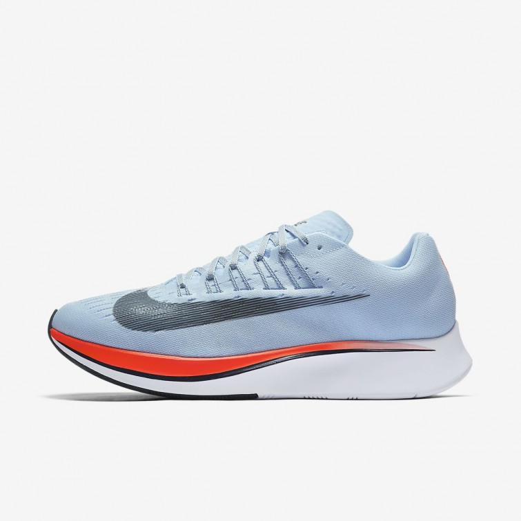 19ff38ade83f Nike Zoom Fly Running Shoes For Men Ice Blue Bright Crimson University Red