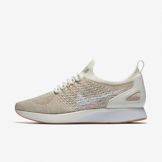 Nike Air Zoom Mariah Flyknit Racer Lifestyle Shoes For Women Sail/Sand/Gum Yellow/White 571KVHIR