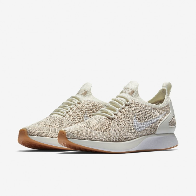 f741504f82bb ... Nike Air Zoom Mariah Flyknit Racer Lifestyle Shoes For Women  Sail Sand Gum Yellow