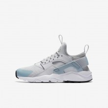 Nike Air Huarache Ultra Lifestyle Shoes For Boys Pure Platinum/White/Ocean Bliss 977BPKUR