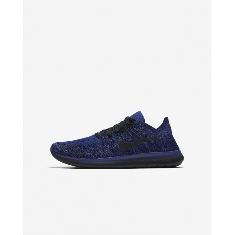 super popular 7f2d2 0edc8 Nike Free RN Flyknit 2017 Running Shoes For Boys Deep Royal BluePersian  Violet