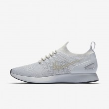 Nike Air Zoom Mariah Flyknit Racer Lifestyle Shoes For Men Pure Platinum/Light Bone/White/Dark Grey 527AXJEM