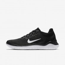 Nike Free RN 2018 Running Shoes For Women Black/White 840MTHIQ