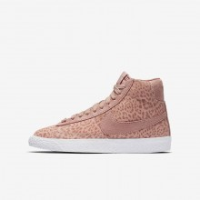Nike Blazer Mid SE Lifestyle Shoes For Girls Coral Stardust/Gum Light Brown/White/Rust Pink 657OQTFG