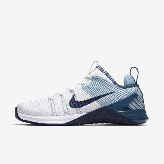 Nike Metcon DSX Flyknit 2 Training Shoes For Women White/Mica Blue/Night Factor/Navy 384UGEHY