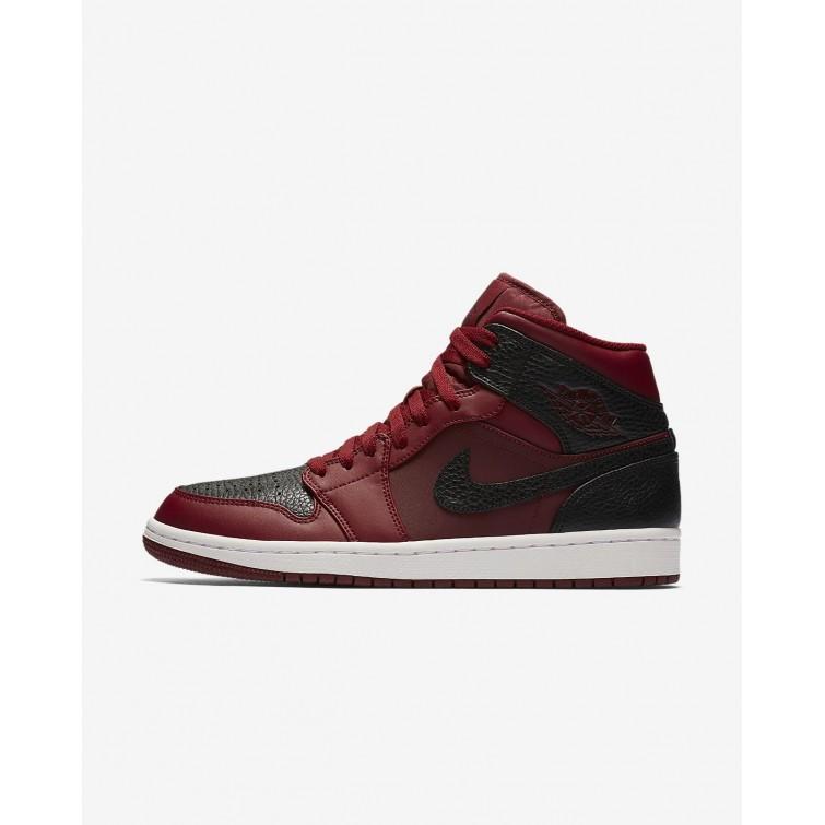 cf2333bf2d3 Sapatilhas Casual Nike Air Jordan 1 Mid Homem Vermelhas Branco Vermelhas  528ZGFEB