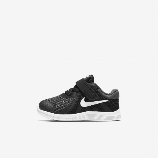 Nike Revolution 4 Hardloopschoenen Meisjes Zwart/Wit 403OXBWM