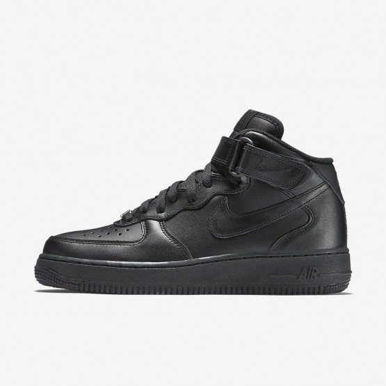 Sapatilhas Casual Nike Air Force 1 Mid 07 Mulher Pretas 686ZAFQD