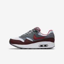 Nike Air Max 1 Lifestyle Shoes For Boys White/Cool Grey/Team Red/University Red 179RIXFQ