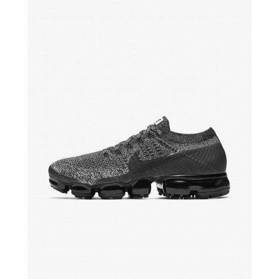 Nike Air VaporMax Flyknit Running Shoes For Men Black/White/Racer Blue 182YODLI
